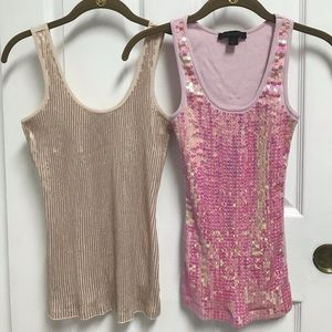 2 pcs sequined tanks in Excellent used condition